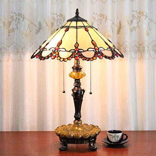 16 Zoll Pastoralen Antike Luxus Tiffany Stil Handgefertigte Glas Tischlampe Nachttisch bett kinder...