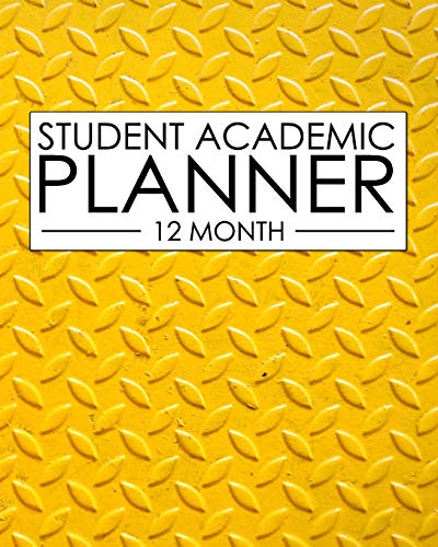 2e6554abc7363 12 Month Student Academic Planner  Industrial Design Yellow 12-month study  calendar helps elementary