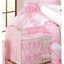 Lujo Bebé Corona toldo Drape/mosquitera sólo grande 480cm para cama de cuna, diseño de cuadros, color rosa