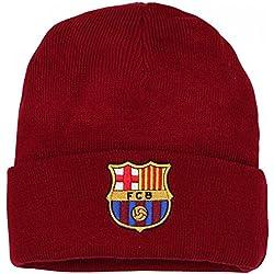 FCB FC Barcelona - Gorro Oficial de Lana de Invierno del FC Barcelona para Adultos - Fútbol/Deporte/(Talla Única/Vino)