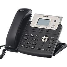 Yealink T21PE2 - Teléfono VOIP, color negro y plata