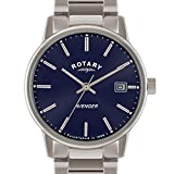 Rotary Avenger Men's Blue Dial Analogue Stainless Steel Watch GB02874/05