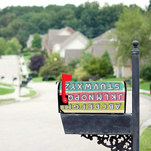 Plosds Kreative Mode Kunst Zeichensetzung Mailbox Cover Übergroße Mailbox Dekorative Abdeckungen 21x18 Zoll Standardgröße Original Magnetic Mail Anschreiben Briefkasten