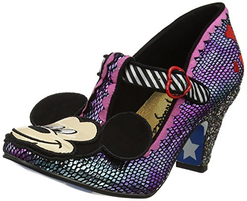 Irregular Choice Damen I Heart Minnie Pumps, Purple (Purple Metallic), 38 EU