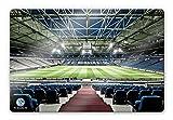 wall-art - Glasbild - Schalke 04 - Arena Tribüne mit abgerundeten Ecken und Wandhalterung (Vorrichtung) - Gesamtgröße: 60x40 cm - GA58913