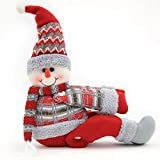 XSWE 3PC Christmas Curtain Decoration, Cartoon Elk Snowman Regali di Natale Decorazione Natalizia Tenda Tie Back Window Strap Buckle Holder