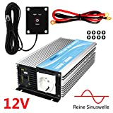 Die besten reine Sinus-Wechselrichter - Spannungswandler 12v 230v 1000W Reine Sinus Wechselrichter 12 Bewertungen