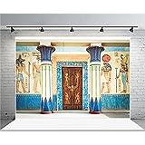 AOFOTO 7x5ft Ancient Egyptian Mural Backdrop Old Fresco Photography Background Stone Wall Painting Egypt History Religion Culture Civilization Photo Shoot Studio Props Video Drop Vinyl Wallpaper Drape