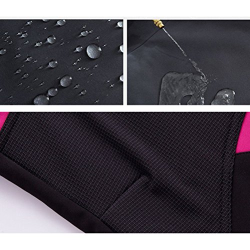 Zhhlaixing Womens Waterproof Windproof De plein air Sports Pants Climbing Trousers Soft Shell Fleece Respirant blue