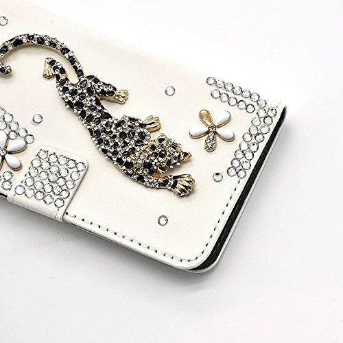 Für iPhone 7 Plus Hülle,Vandot Kratzfest Drop Protection Schutzhülle für iPhone 7 Plus 5.5 inch Ledertasche PU Leder 3D Handgefertigt Handmade Flip Case Cover Luxus Bling Diamant Glitzer Strass Krista Diamant 21
