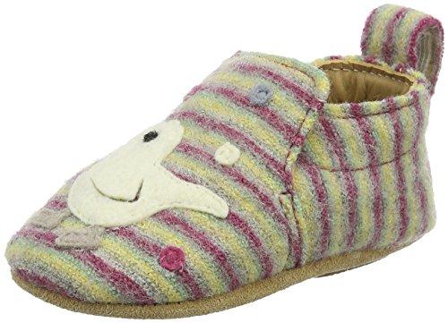 Haflinger Unisex Baby Piep Hausschuhe, Mehrfarbig (Corona), 17 EU (Filz Babyschuhe)