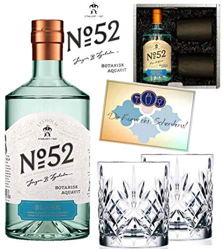 Lysholm No. 52 Aquavit ***Neuheit*** illuminierte/beleuchtete Flasche im Geschenkset - Weihnachten Beleuchtete Geschenkboxen