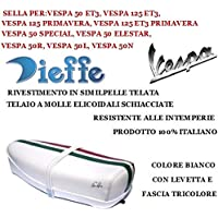50/l 50/R 50/N Dieffe p0010ftm Piaggio Sattel Vintage braun mit r/ückenh/öcker dreifarbig Material in semilpelle f/ür Vespa 50/Special 50/Elestart