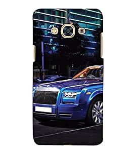 Fuson Designer Back Case Cover for Samsung Galaxy J3 (6) 2016 :: Samsung Galaxy J3 2016 Duos :: Samsung Galaxy J3 2016 J320F J320A J320P J3109 J320M J320Y (Blue car theme)