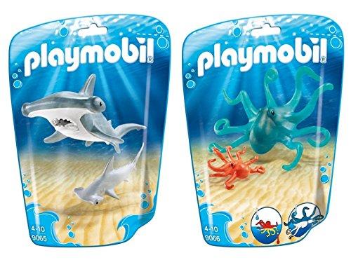 PLAYMOBIL® Family Fun 2er Set 9065 9066 Hammerhai + Krake