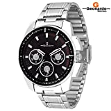 Geonardo Bravo Black Dial Chain Watch For Men & Boys-GDM014