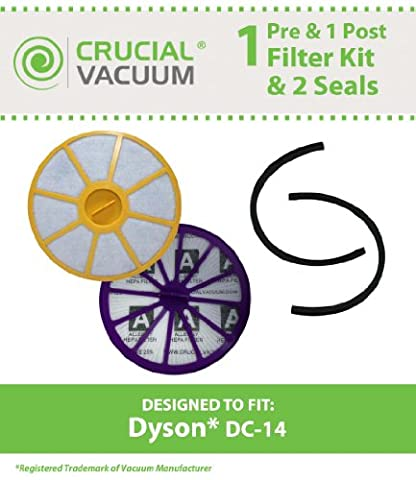 Dyson DC14 Pre & Post Filter Set Plus sceaux designed to