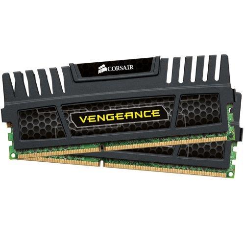 Corsair CMZ8GX3M2A1600C9 Vengeance 8GB Arbeitsspeicher ((2x 4GB) DDR3 1600 Mhz CL9) schwarz
