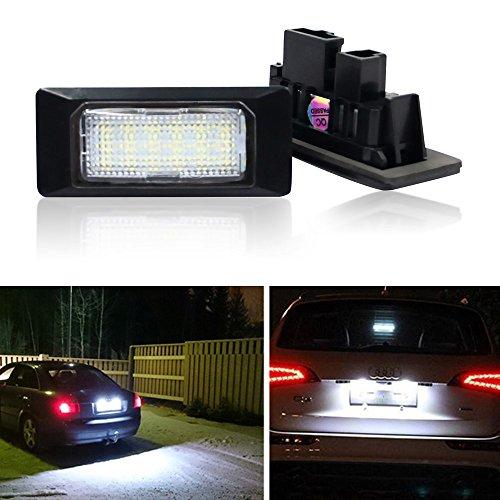 Win Power Luce targa LED SMD Luci posteriori Nessun errore Xeno bianco 6000K Auto 12V, 2 Pezzi