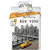 NEW YORK-Juego de cama funda nórdica y funda de almohada de 'oreiller