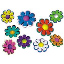 PEGATINA adhesiva, diseño floral: Mini Flowers 06-Set 5 - varios colores!