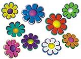 aufgeklebt.de Mini-Autoaufkleber, Blumendesign: Mini 06-51 Stück - bunt gemischt!