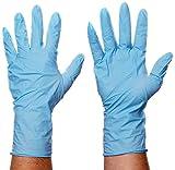 bingold 632004290monouso Guanti in nitrile, senza talco, extra lunga, forma anatomica, CE Cat III, taglia XL, colore: blu (Confezione da 100)