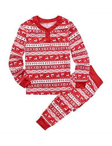 assende Familie Pyjamas Schlafanzug für Weihnachten Jumpsuit Homewear Outfit für Kinder, Jungen, Mädchen, Erwachsene Eltern- Gr. L für Vaters ()