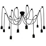 10 Arme (jeweils mit 2 m Draht) Antike klassische Ajustable DIY Decke Spider Lampe Licht E27 Sockel Sockel Retro Kronleuchter Pedant Speisesaal Schlafzimmer Hotel Dekor Dekoration