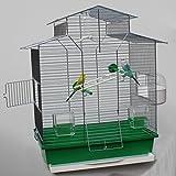 Heimtiercenter Vogelkäfig,Wellensittichkäfig,Exotenkäfig,60 cm Vogelkäfig Vogelbauer Wellensittich Kanarien Voliere Vogelhaus Käfig IZA 2 II grün
