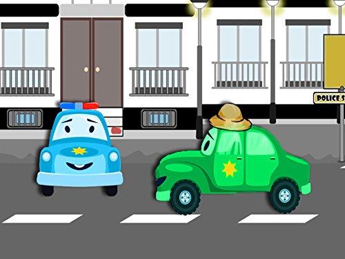 Das Polizeiauto und Monster Truck