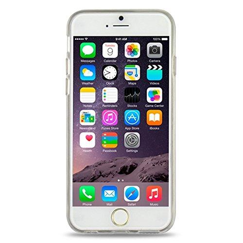 Phone case & Hülle Für IPhone 6 / 6S, Ultra-dünnes schimmerndes Puder 3D Diamant-Muster TPU Fall ( Color : Transparent ) Transparent
