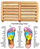 Fußmassageroller,für beide Füße,Fußroller,LDream® Reflexzonen Massage Fuß Oriental Zweifuß Holz Massage-Roller (7 Etappen) Entlasten Fersensporn, Ferse Schmerzen und Stress Reflexology & Akupressur Die Fußsohle Massage - 6