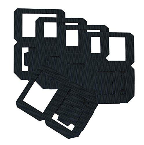 folia 9890/5 - Laternen Rohlinge, Laternenzuschnitte aus Wellpappe, 5 Stück, schwarz, zum Zusammenstecken ohne Kleber, ideal zum Gestalten individueller Laternen oder Tischlichter
