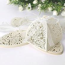 set de cajitas de boda dulces regalos bombones y detalles color marfil xth