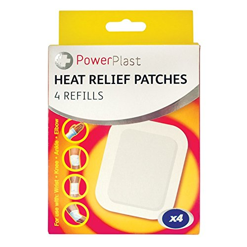 Price comparison product image Invero® 4x Pack of Large Pain Relief Heat Patches for Arthritis Backache Strains Joints Aches