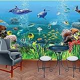 XCMB Benutzerdefinierte 3D Tapete stereoskopischen Wandbild Tapeten für Kinder die Landschaft der Unterwasserwelt Kinder Bettwäsche Zimmer Sofa TV Kulisse-250cmx175cm