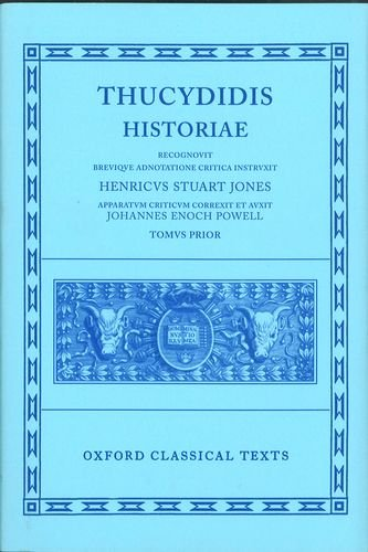 Thucydides Historiae Vol. I: Books I-IV 2/e (Oxford Classical Texts)