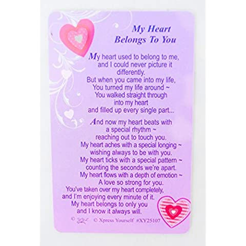 Il mio cuore appartiene a voi, a portafoglio Love anniversario di matrimonio regalo poesia