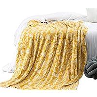 Amabubblezing Imprimir Mantas de Tiro de algodón-Suave Manta de sofá Ligero para Acampar Picnic, Ropa de Cama de Playa decoración para el hogar (Color : Yellow) - Muebles de Dormitorio precios