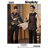 Simplicity Muster 8408Herren Hemd und Weste, Papier, weiß, 22x 15x 1cm
