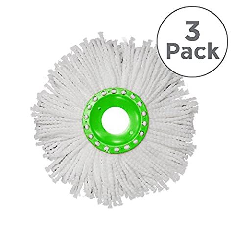 Whizz Mop: 3 x Replacement Microfibre Heads, Ultra Absorbent & Machine Washable