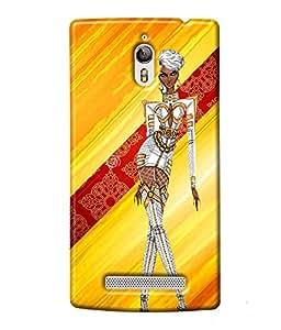 Fuson style Girl Back Case Cover for OPPO FIND 7 - D4026