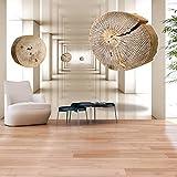 murando - Fototapete 350x256 cm - Vlies Tapete - Moderne Wanddeko - Design Tapete - Wandtapete - Wand Dekoration - Holz Abstrakt 3D a-A-0191-a-b