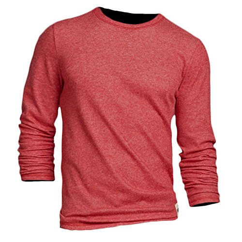 Hollister Uomo Hobson Waffle maglietta a maniche lunghe (324 - 369 - 0593 - 013), Red, X-Large