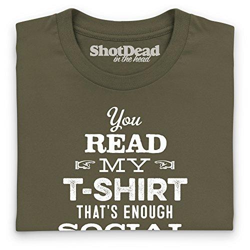 Social Interaction T-Shirt, Herren Olivgrn