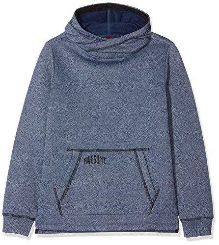 s.Oliver Junior Jungen Sweatshirt 62.811.41.4021, Blau (Blue Multicolored Stripes 58s5), 164 (Herstellergröße: L/REG)