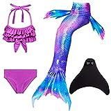 shepretty Ragazze Sirena Coda Costume da Bagno Squalo Cosplay Costume 4pcs Insiemi del Bikini,DH54,140