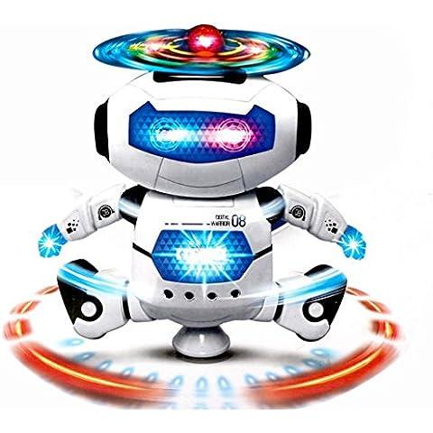 Fortan Walking elettronico Ballando intelligente dello spazio Robot Astronauta bambini musica leggera Giocattoli