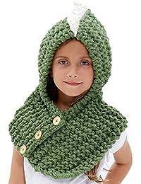 Inverno Bambino Cappelli maglia sciarpa animale Cappelli neonate scialli  Cappello autunno e inverno sciarpa a maglia fd1c5df232c8